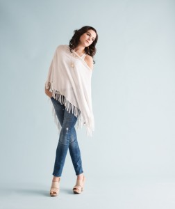 THE JEAN Pair a distressed straight leg jean with a simple white ruana and tank for a classic look. Available at Pearl Pumphrey's.