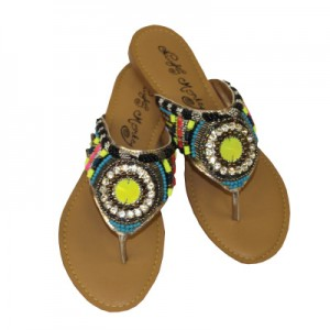These cute sandals are perfect for fun in the sun. Find this and more at The Twisted Peacock.