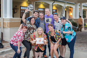 JUST PEACHY: Left to Right:  Al James, founder of Code Red Caper, pictured at the Peachy Keen Caper event in his hometown of Ruston; James and the Magnum B.L. team (BayouLife Magazine) after winning this year's inaugural fundraising event benefitting Big Brothers Big Sisters.