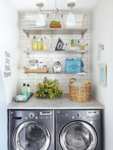 organized laundry area