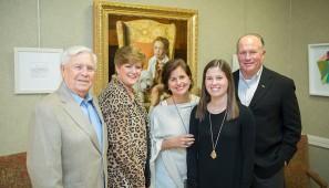 Paul and Johnnie Hogan, Kelly, Taylor and Bill Hogan