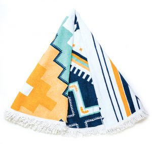 TOWEL - This aztec printed towel is the perfect summer accessory. Don't let style stop at the swimsuit.